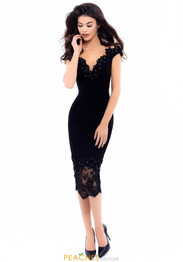 Tarik Ediz Cap Sleeved Dress 93317