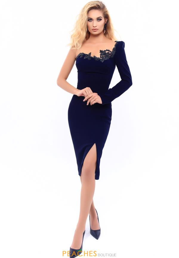 Tarik Ediz Fitted Short Dress 93327