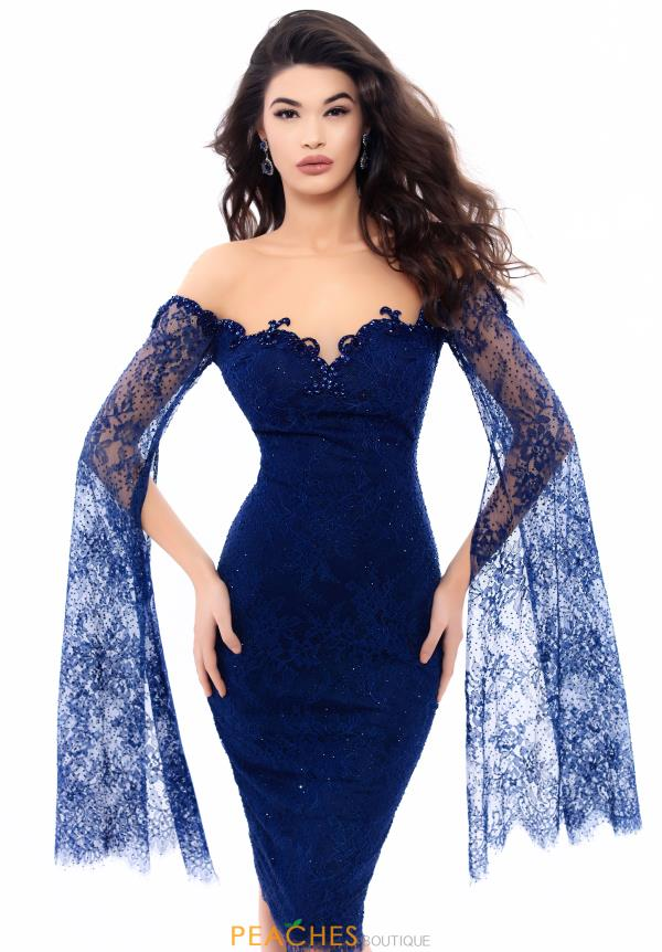 Tarik Ediz Off the Shoulder Fitted Dress 93329