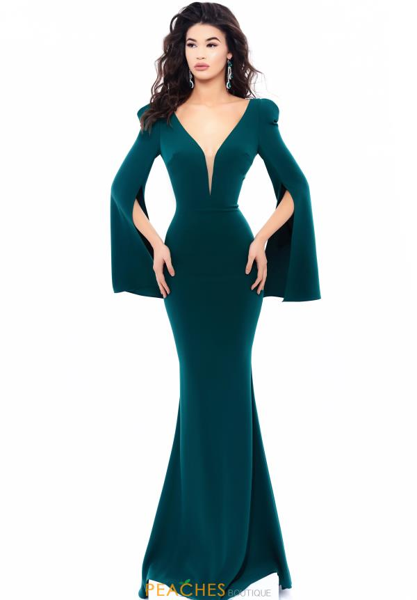 Tarik Ediz V- Neckline Fitted Dress 93333