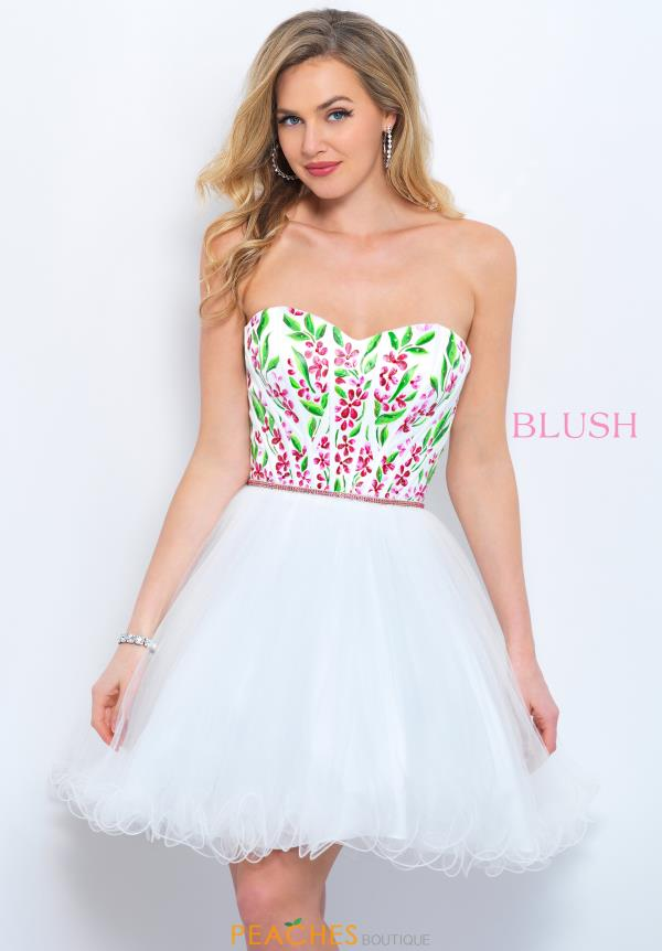 Blush Short White Dress 11362