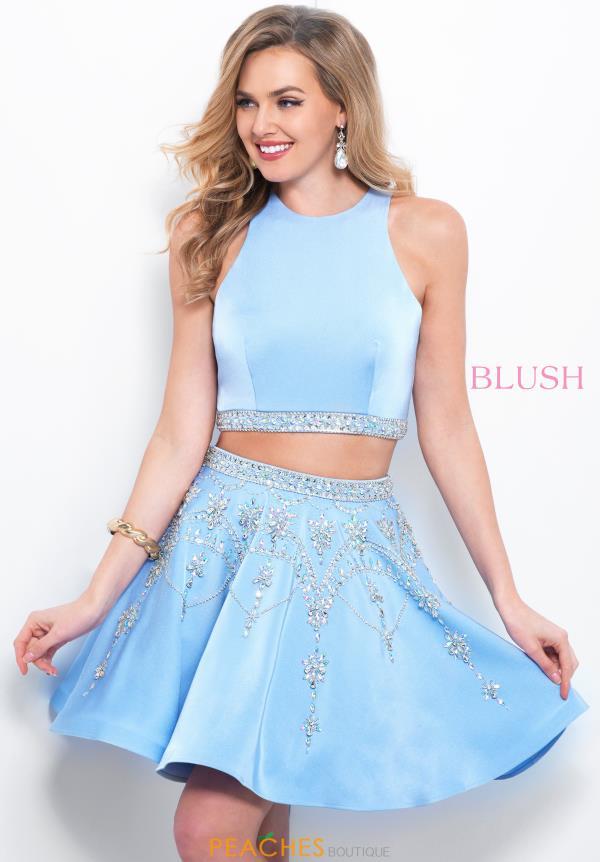 Blush Two Piece A Line Dress 11372