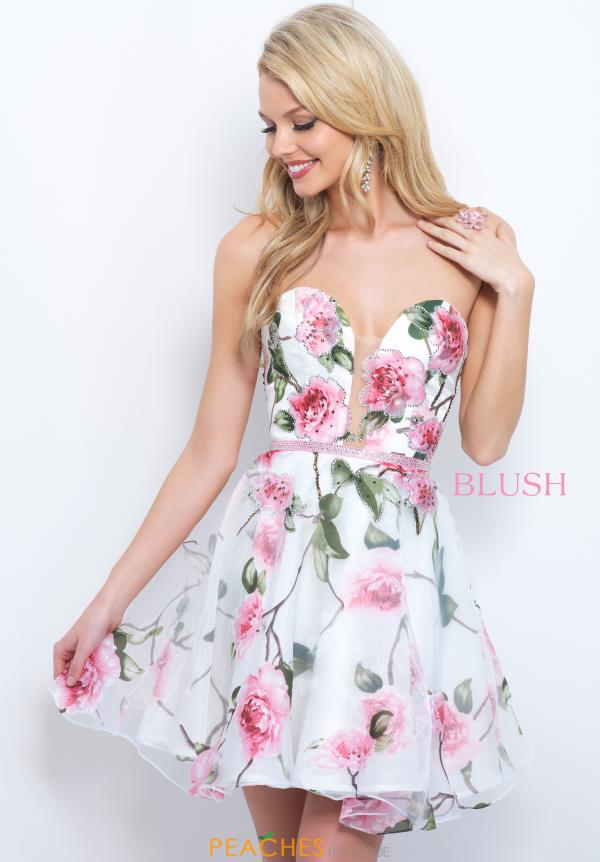 Blush Short Floral Dress 11381