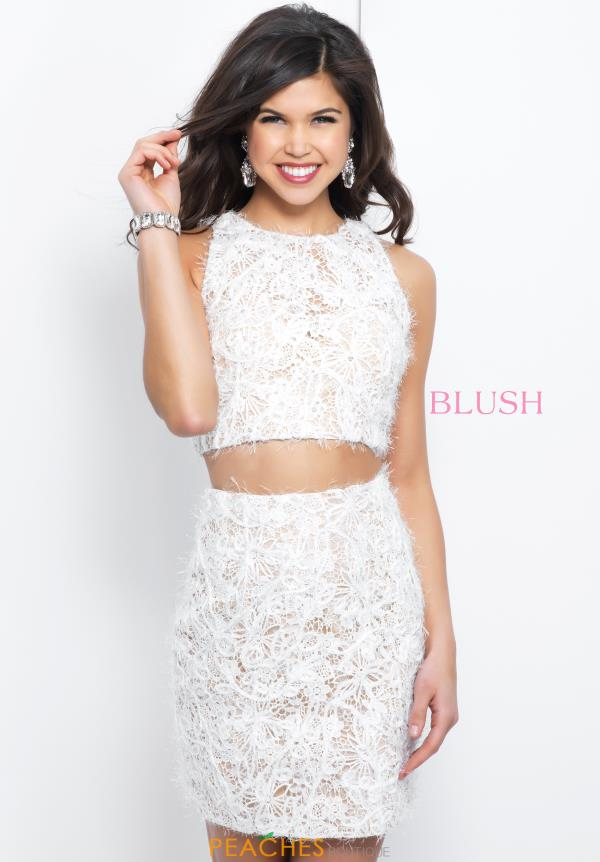 Blush Two Piece Ivory Dress C406