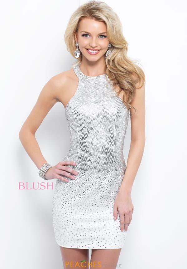 Blush Short Beaded Dress C421