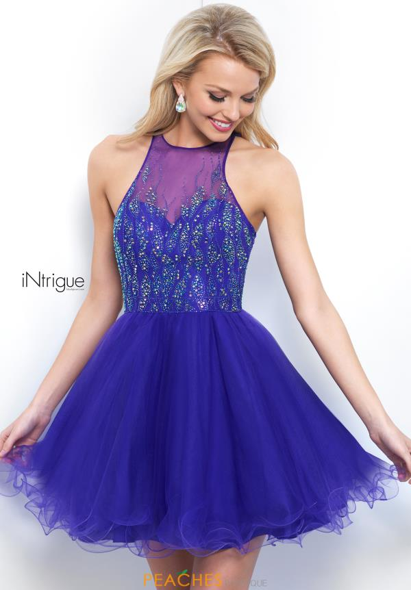 Intrigue by Blush Beaded A Line Dress 351