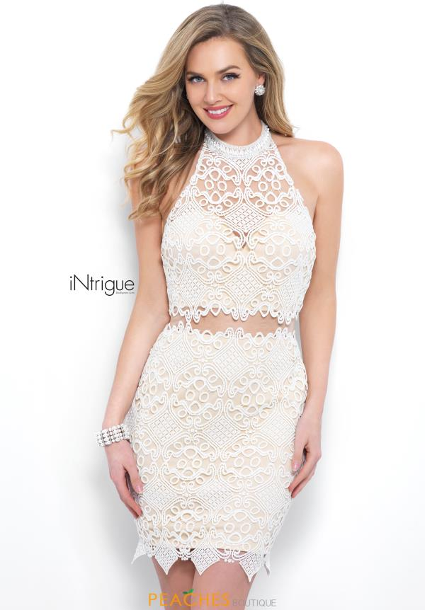 Intrigue by Blush Two Piece Lace Dress 353