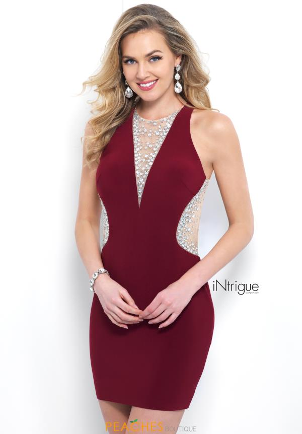 Intrigue by Blush Beaded Short Dress 354