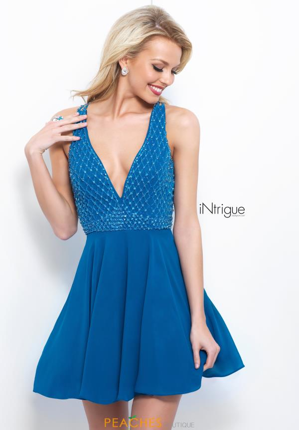 Intrigue by Blush A Line Beaded Dress 366