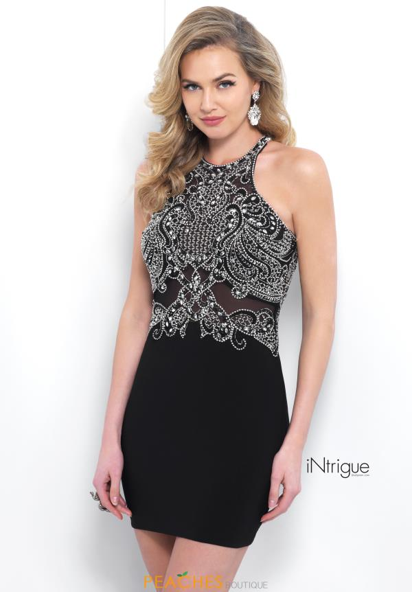Intrigue by Blush Black Beaded Dress 371