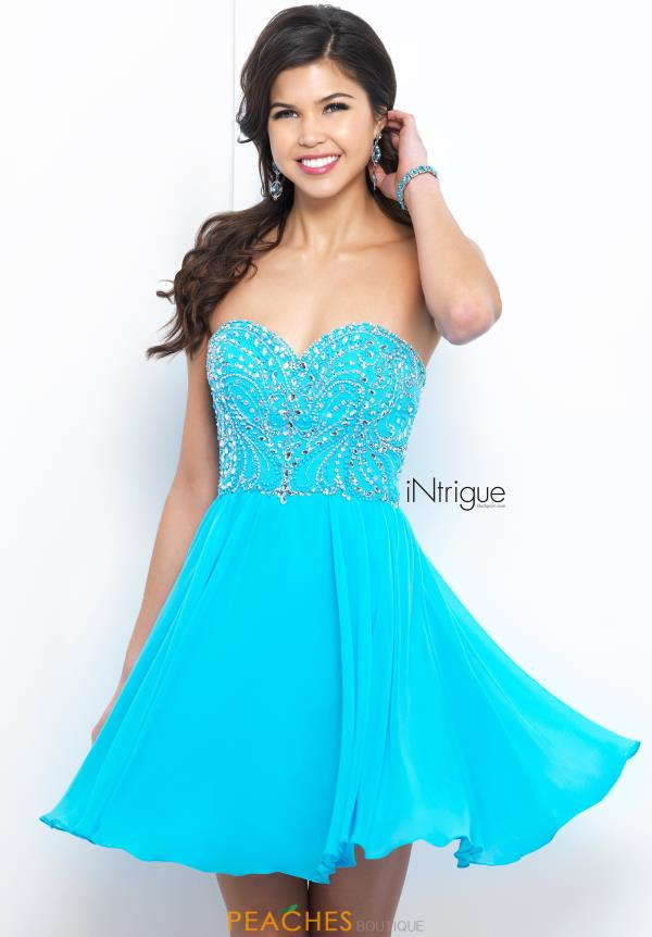 Intrigue by Blush Strapless Short Dress 380