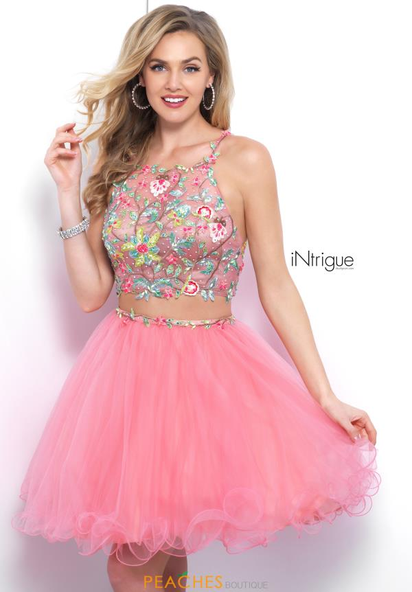 Intrigue by Blush Two Piece Tulle Dress 381