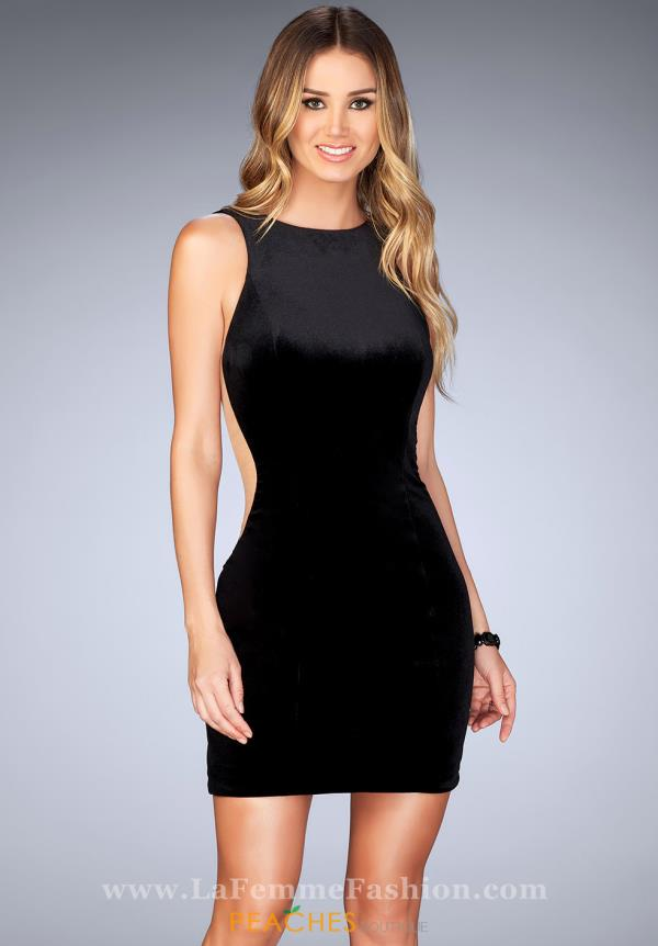La Femme Short Fitted Dress 25007