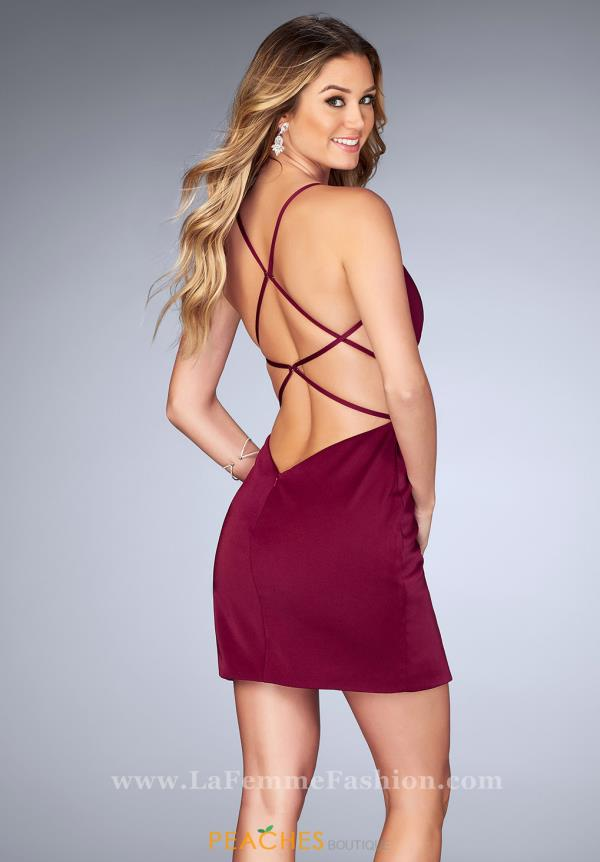 La Femme Short Fitted Dress 25127