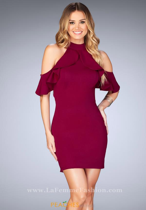 La Femme Short Fitted Dress 25147