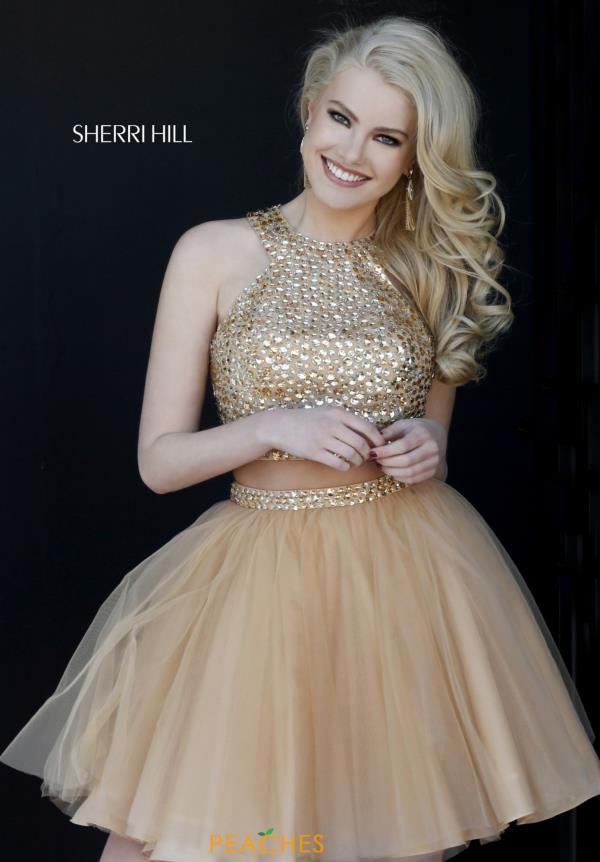 Sherri Hill Short Beaded Party Dress 32289
