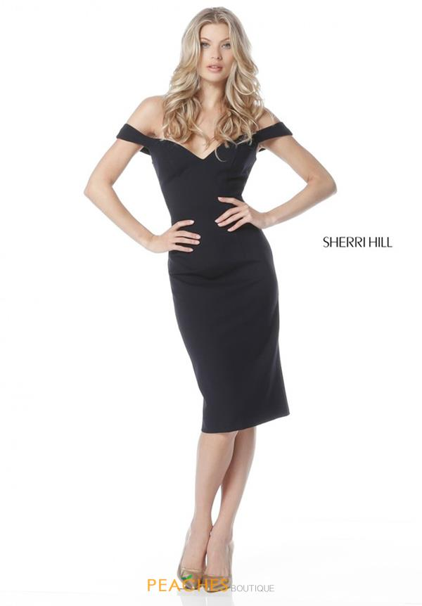 Sherri Hill Short Cap Sleeved Fitted Dress S51338