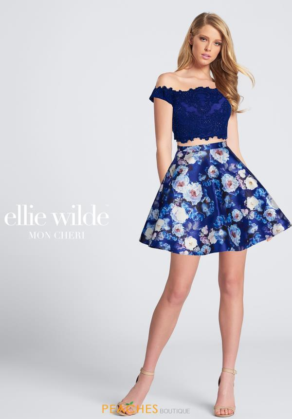 Ellie Wilde Two Piece Lace Dress EW21771S