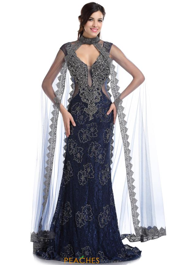 Romance Couture Beaded Long Dress RD1713