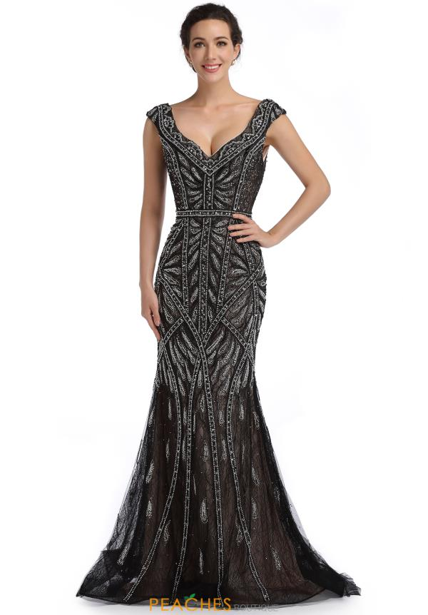 Romance Couture Fitted Long Dress RM6101