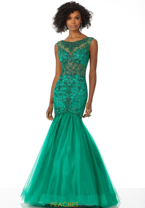 Mori Lee Beaded Long Dress 42021