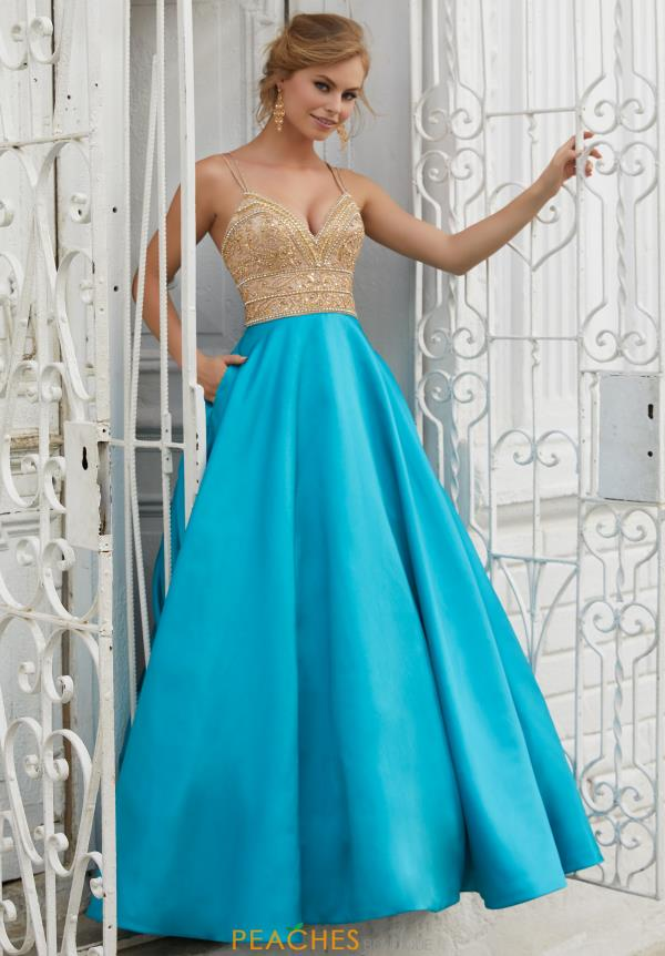 Mori Lee Beaded Long Dress 42039