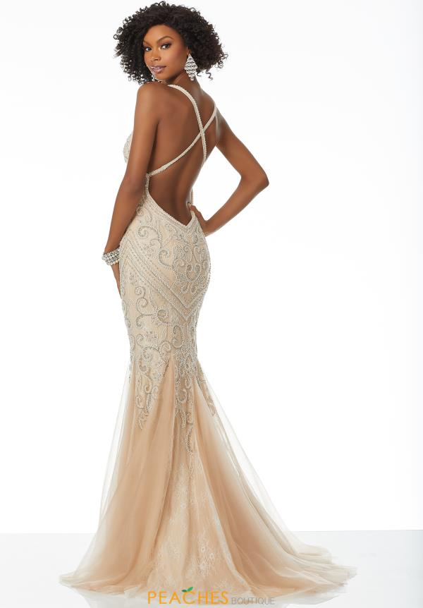 Mori Lee Sexy Open Back Fitted Dress 42043