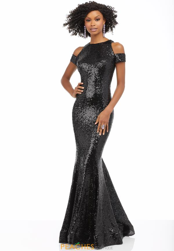 Mori Lee Cap Sleeved Beaded Dress 42073