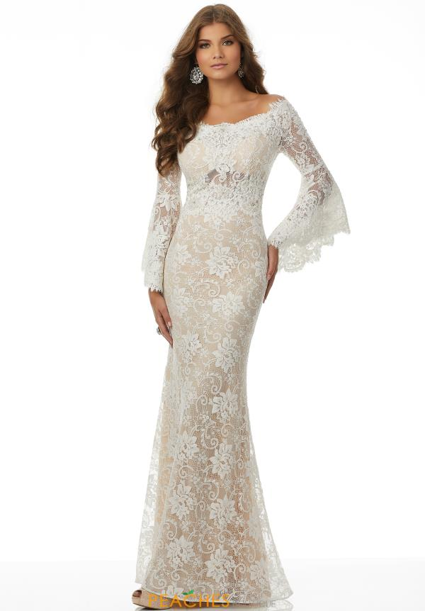 Mori Lee Sleeved Long Dress 42082