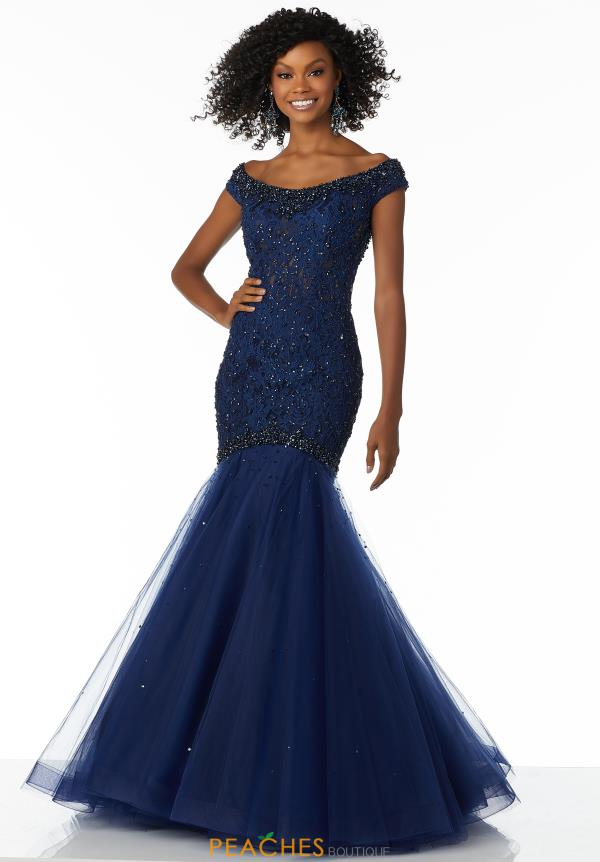 Mori Lee Cap Sleeved Fitted Dress 42084