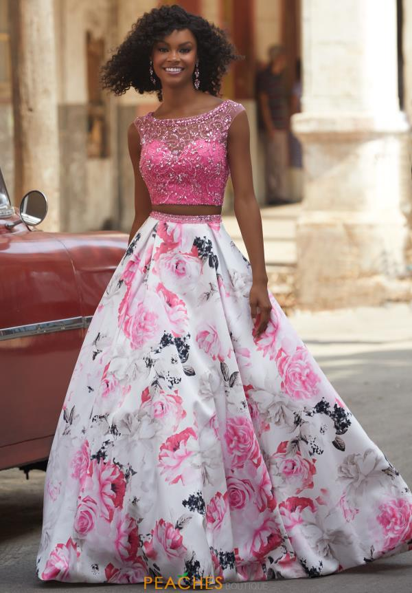 Mori Lee Two Piece Print Dress 42090