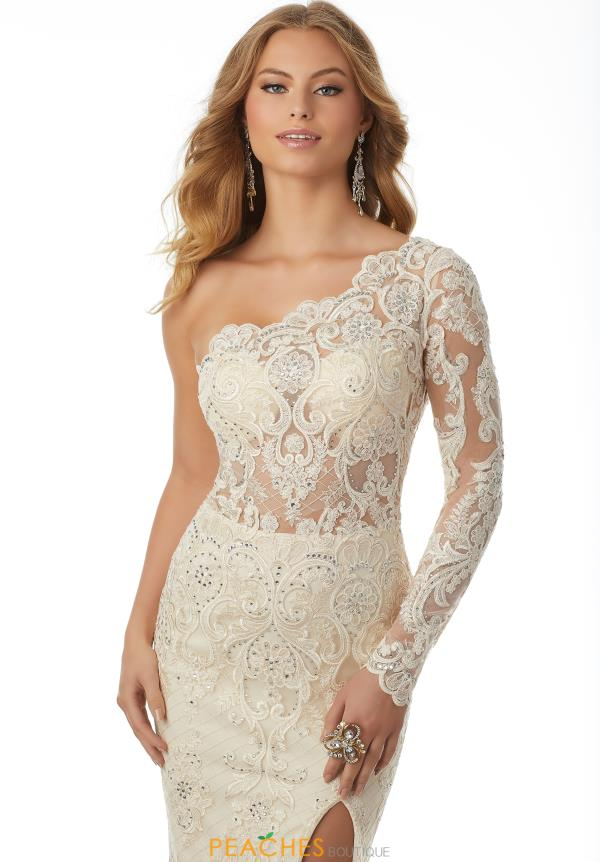 Mori Lee One Shoulder Fitted Dress 42103
