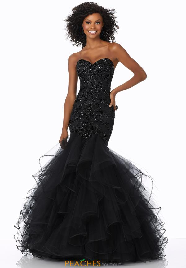 Mori Lee Strapless Beaded Dress 42117