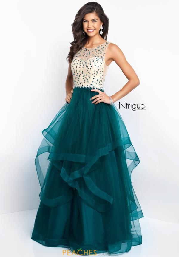Intrigue by Blush Long Tulle Dress 421