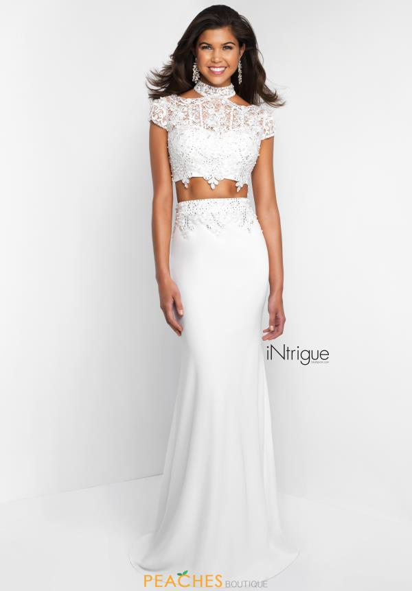Intrigue by Blush Fitted Long Dress 426