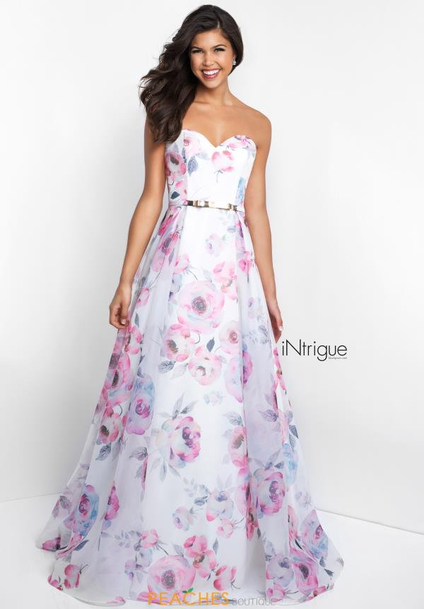 Intrigue by Blush Print A Line Dress 429