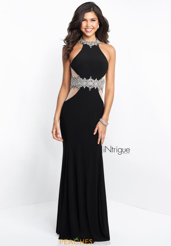 Intrigue by Blush Long Fitted Dress 441