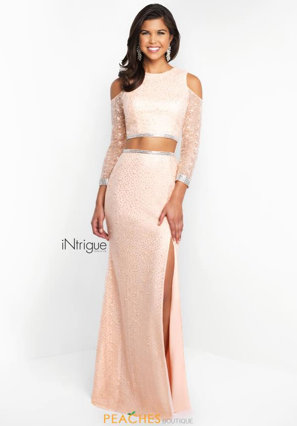 Intrigue by Blush Long Fitted Dress 449