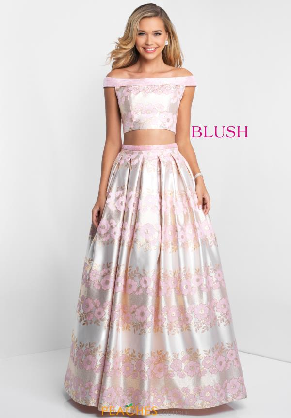 Blush Long Floral Dress 5657
