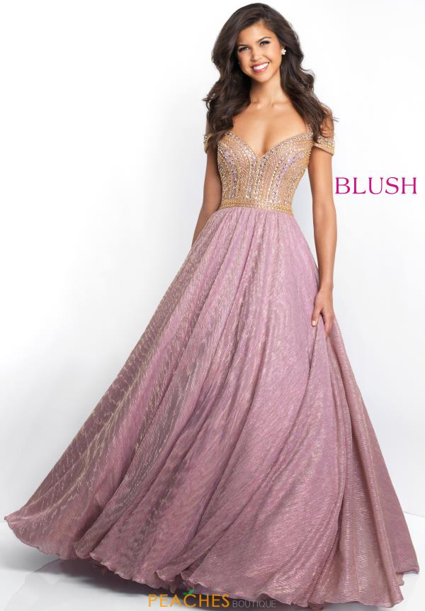 Blush Cap Sleeved Beaded Dress 5658