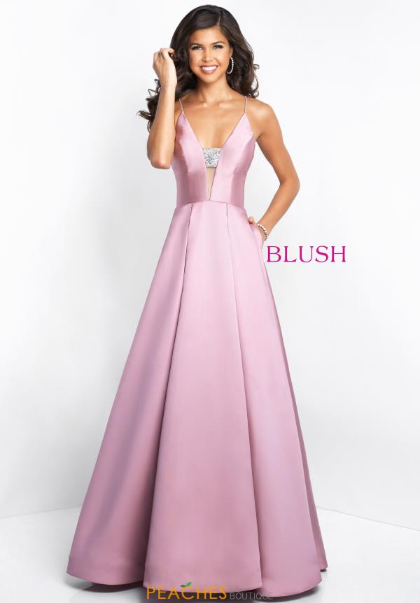 Blush Long A Line Dress 5662