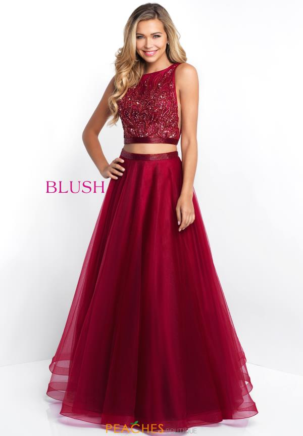 Blush Tulle Skirt A Line Dress 5670