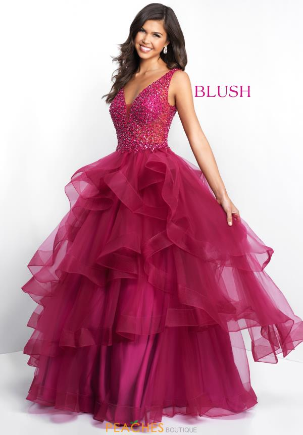 Blush Tulle Skirt A Line Dress 5671