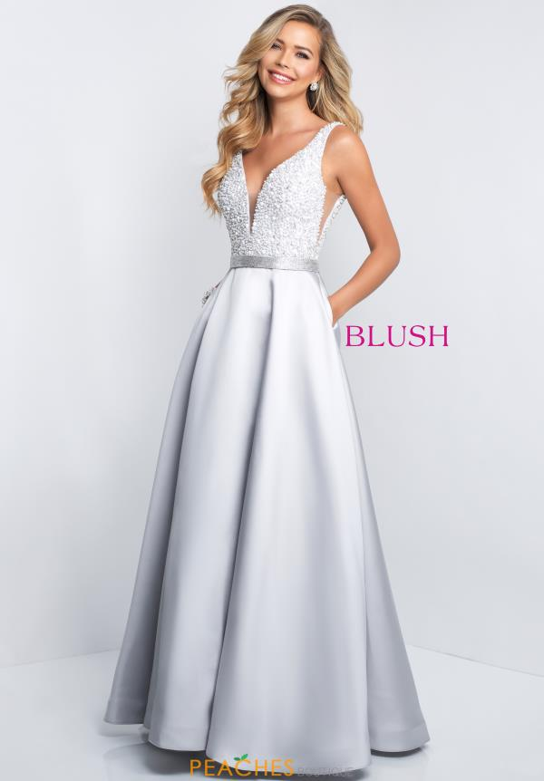 Blush Long A Line Dress 5681