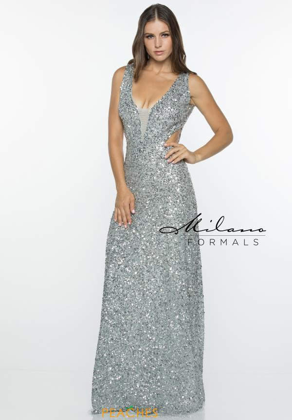 Milano Formals Long Fitted Dress E2403