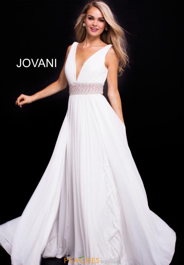 Jovani Beaded A-line Dress 48069