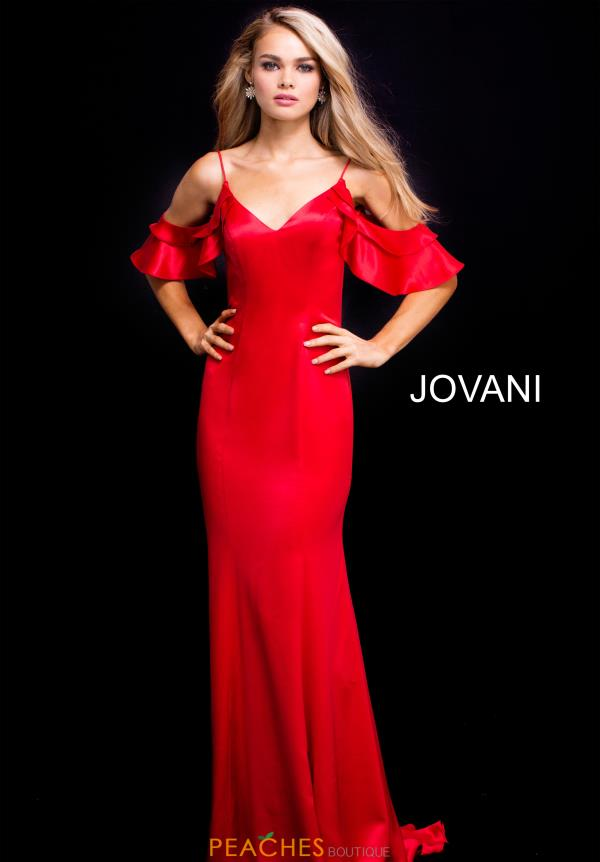 Jovani Fitted Cap Sleeve Dress 50174
