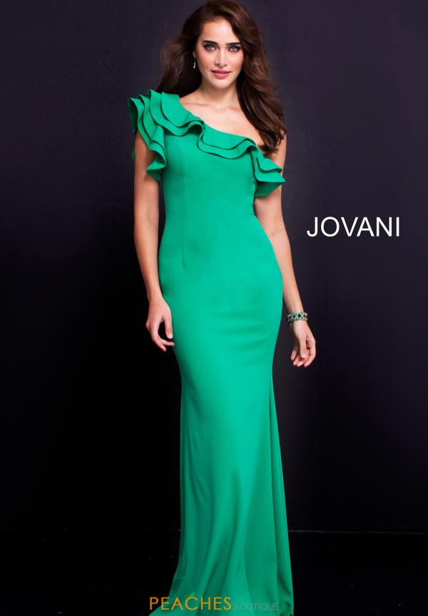 Jovani Long Crepe Dress 54423