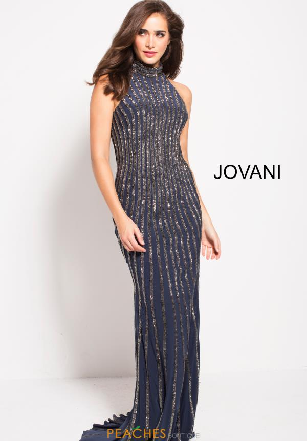 Jovani Long Beaded Dress 55999