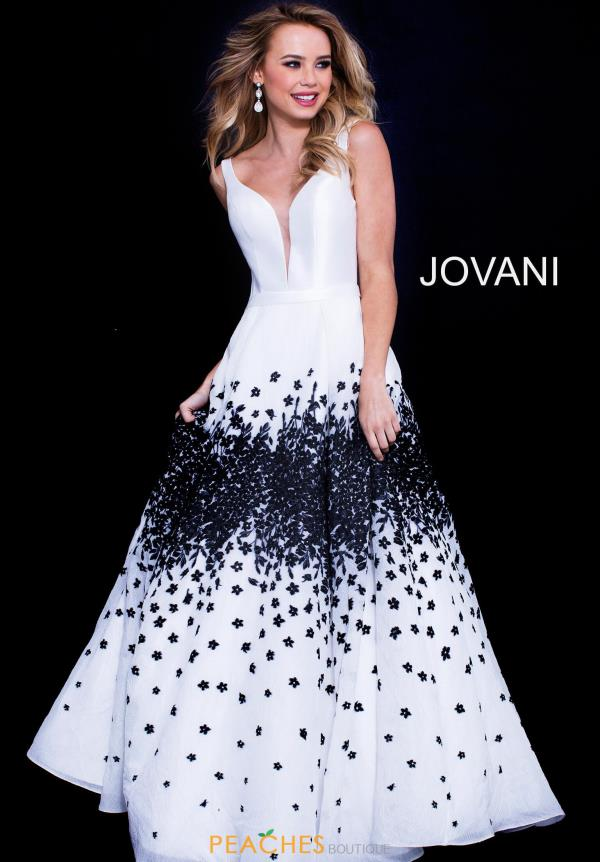 Jovani Long Beaded Dress 58968